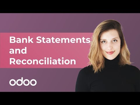 odoo V12 Bank Statements and Reconciliation - odoo Accounting