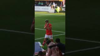 Standing Ovation for Star Player Lloyd Isgrove Following Swindon's 3-0 Win On Saturday!
