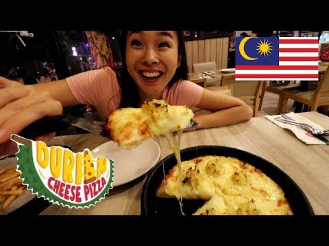 Japanese girl goes to Malaysia just to eat DURIAN PIZZA