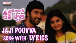 Jaji Poovva Full Song With Lyrics - Hyderabad Love Story