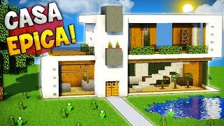 Minecraft casa super moderna videos for Tutorial casa moderna grande minecraft
