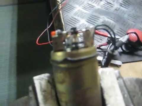 Chispas diodo y condensador