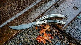 Making DAMASCUS CSGO BUTTERFLY KNIFE Part 1