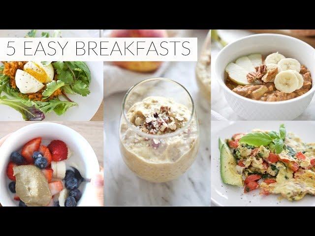 5 EASY BREAKFAST RECIPES   healthy paleo + dairy-free breakfast ideas