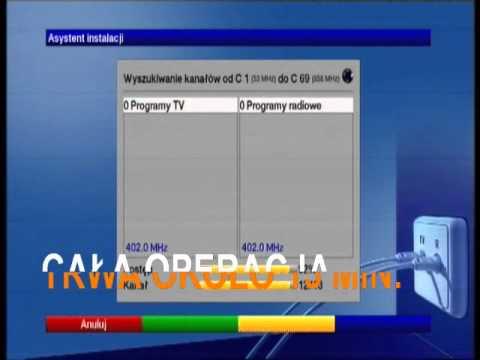 Przywrócenie ustawień fabrycznych dekodera Technisat DIGIT HD4-CX
