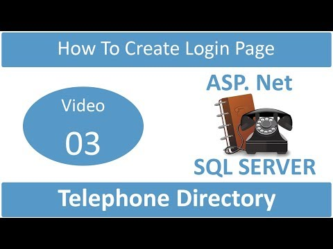 how to create login form in telephone directory