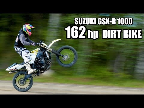 SUZUKI GSX-R Dirt Bike 1000cc – OFF ROAD test ride