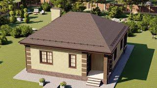 Проект дома 076-A, Площадь дома: 76 м2, Размер дома:  10x13 м