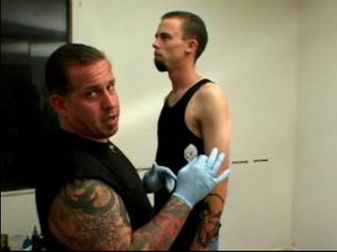 Beginning Tattooing Tips : How To Apply A Tattoo Stencil
