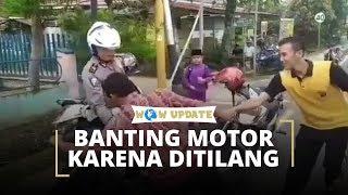 Aksi Banting Motor karena Tak Terima Ditilang Terjadi Lagi, Sempat Menyita Perhatian Warga