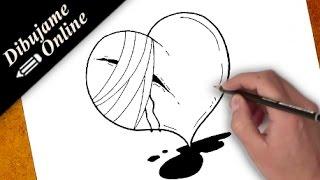 Como Dibujar Un Corazon Roto Facil Free Video Search Site