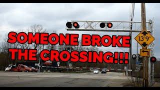Boneheaded People Going Around A Broken Railroad Crossing