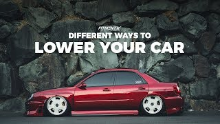 Different Ways To Lower Your Vehicle