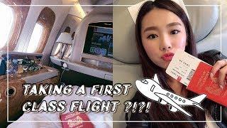 VLOGMAS #5 MY FIRST TIME ON A FIRST-CLASS FLIGHT??!!!! | MONGABONG