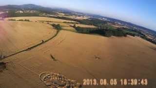 FPV video - RC model - UFO a kruhy v obilí - Paceřice u Turnova