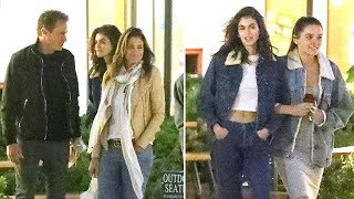 Kaia Gerber Flaunts Her Killer Abs During Mother's Day Dinner With Mom Cindy Crawford