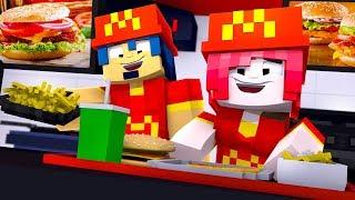 Minecraft ITA - LA NOSTRA VITA AL MC DONALD'S