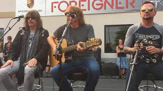 Foreigner Double Vision, Feels Like the First Time, Live Acoustic 9-4-17