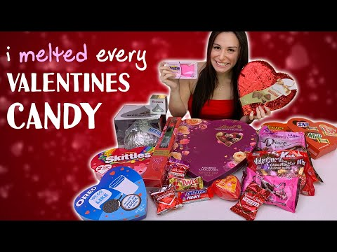 MELTING EVERY ❤️ VALENTINES DAY ❤️ CANDY TOGETHER