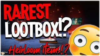 RAREST LOOTBOX IN APEX LEGENDS!? HEIRLOOM OPENING!