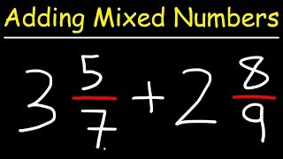 Adding Mixed Numbers