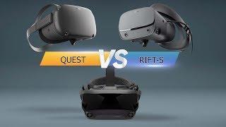 Oculus Quest vs Rift S vs Valve Index