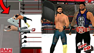 WWE 2K18 ANDROID - WWE RAW TOP10 Shocking Moments WWE 2K18/WWE SVR11 PSP