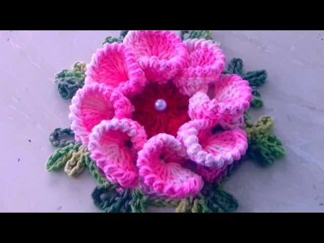 Vamos Aprender Esta Linda Flor Em Crochê Passo A Passo