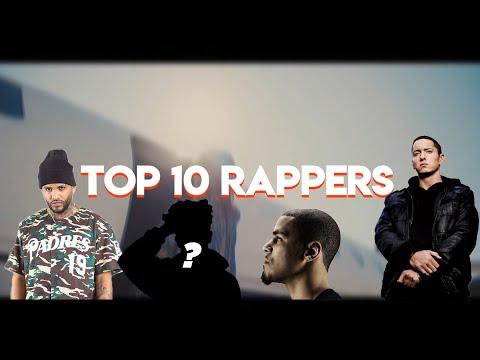 TOP 10 RAPPERS (FT JCOLE, EMINEM, TECH N9NE, JOYNER & MORE)