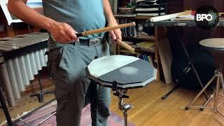 PERCUSSION: Drum pad warm ups with Dinesh Joseph