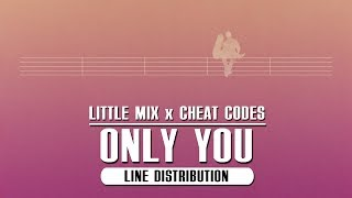 Little Mix X Cheat Codes   Only You ~ Line Distribution