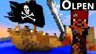 Пираты Напали на Корабль в Майнкрафт! Капитан Олпен даст отпор!
