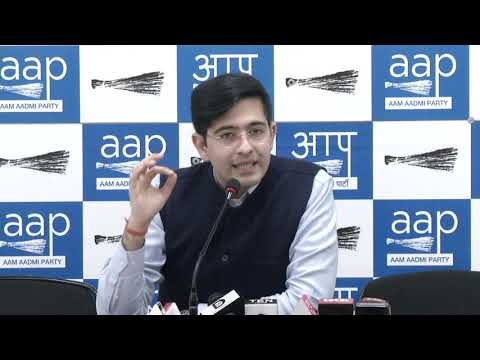 AAP National Spokesperson Raghav Chadha briefed on Delhi Electoral Rolls