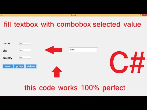 Database values in textbox if select Combobox C#