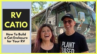 How To Build A Catio For Your RV | RV Cat Enclosure
