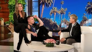 "Charlie Puth described to Ellen how he's a big ""Friends"" fan, so she shocked the singer by bringing Jennifer Aniston out to meet him for the first time!  #JenniferAniston #CharliePuth #TheEllenShow"