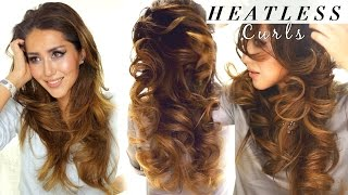 2 ★ LAZY HEATLESS CURLS | Overnight Waves HAIRSTYLES | HACKS
