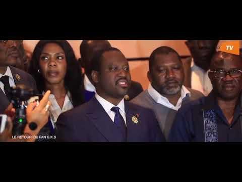 Retour de Soro Guillaume Kigbafori à Abidjan