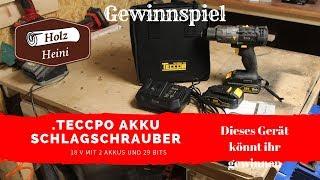 TECCPO Akku Schlagbohrschrauber 18V - Und dieses Gerät könnt ihr gewinnen