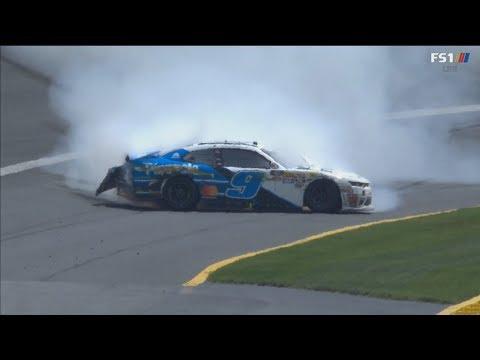 NASCAR Xfinity Series 2018. Charlotte Motor Speedway. Tyler Reddick Crash Spin