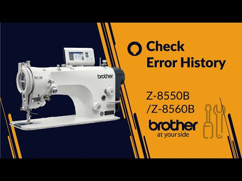 HOW TO Check Error on Panel [Brother Z-8550B/Z-8560B]