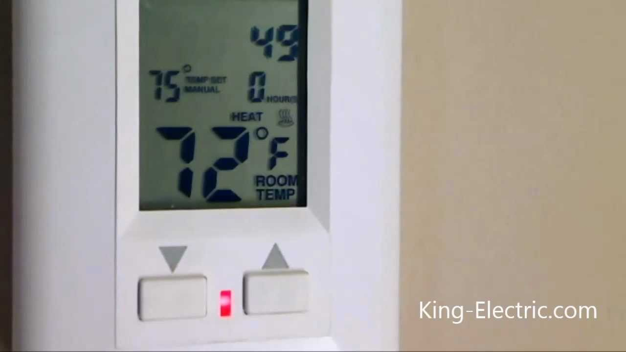 King Electric Esp The Thermostat Is Rated At 16amps And Will Control A Maximum Heated Close