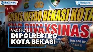 Vaksinasi Personel Polres Metro Bekasi Kota Dimulai sejak Kemarin