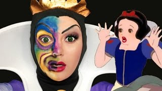 DISNEY'S EVIL QUEEN MIRROR MAKEUP TUTORIAL!
