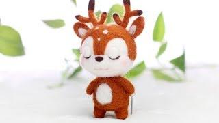 淘宝 梧桐家羊毛毡 · Sika deer DIY tutorial 羊毛毡wool felt视频教程教学