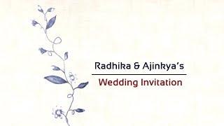 Wedding Invitation | RGE 110 | Write on Theme