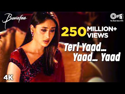 Download Teri Yaad...Yaad...Yaad - Video Song | Bewafaa | Anil Kapoor & Kareena Kapoor HD Mp4 3GP Video and MP3