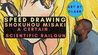 Shokuhou Misaki  - (A Certain Magical Index) - Shokuhou Misaki from A Certain Scientific Railgun | New 2017 Speed/Time Lapse Drawing | Art by Clark