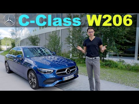 2022 Mercedes C-Class driving REVIEW - the almost EV C-Class with the new W206 PHEV range test!