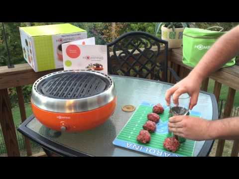 The Homping Grill – Review / Unboxing / Demo (Tailgating, Camping)
